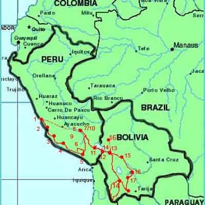 A year in life discover south america through a travel journey detailed map of our journey sciox Choice Image